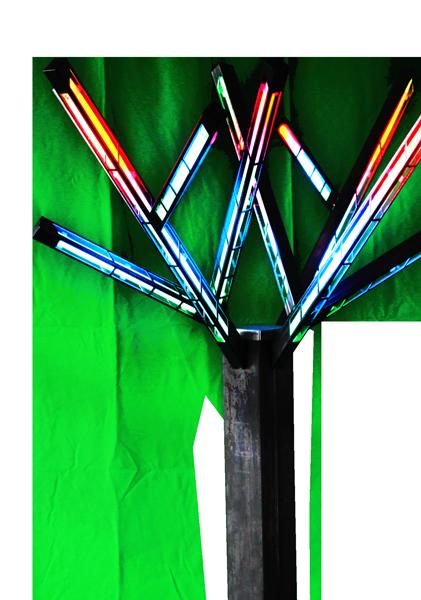 28 modes couleur disponibles pour l'arbre de luxe Fun Tree