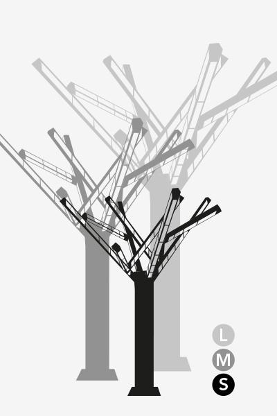 3 tailles disponibles pour l'arbre de luxe Fun Tree